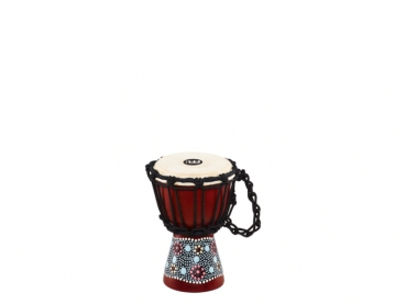 "Meinl Percussion African Style Mini Djembe Flower Design 4 1/2"" x 8"""