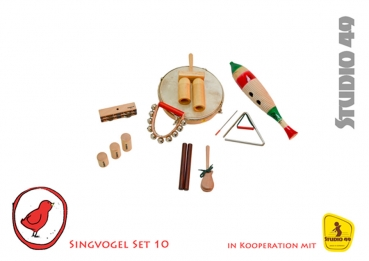 Singvogel Percussion Set für 10 Kinder Studio 49