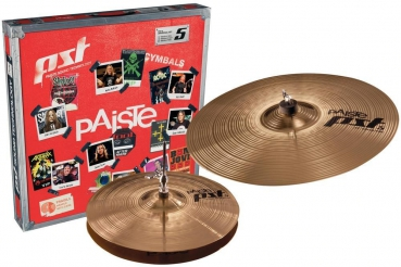 "Paiste Beckenset PST 5 Essential Light 14"" HH 18"" CR"