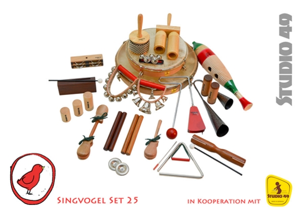Singvogel Percussion Set für 25 Kinder Studio 49